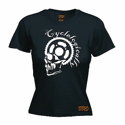 Cyclelogically Cycle Skull WOMENS T-SHIRT tee cycling funny mothers day gift