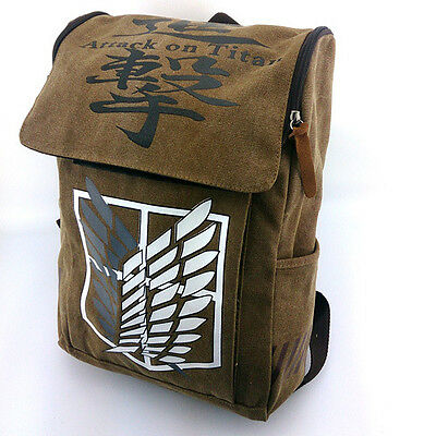 Cosplay Canvas Anime Attack On Titan Wing of Freedom Shoulder Bag Backpack