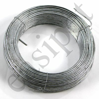 Tension Straining Line Wire Galvanised Steel 100m x 2.5mm Chain Link Fencing 714