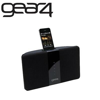 Gear4 PG528UK HouseParty Blade Stereo Speaker Dock Play Charge iPhone 4 4S iPod