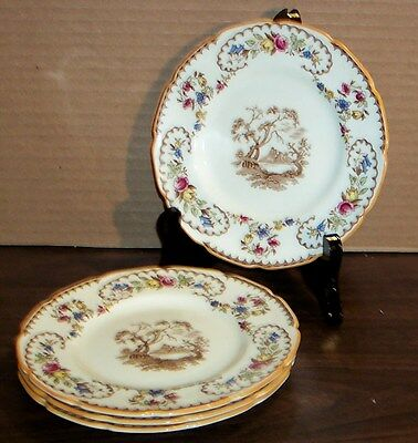 """4 Plates Royal Doulton The Beaufort Bread And Butter Plates 6"""""""