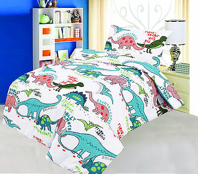 Love2Sleep COT BED 120 X 150 COTTON RICH DUVET COVER SET – DINOSAURS