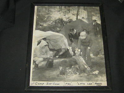 """Mahoning Valley Council 1966 lst Camp Ice Cube """"Little Leo"""" Framed Photo"""