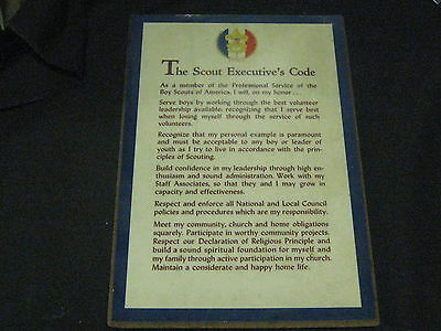 The Scout Executive's Code, simulated Wood Plaque