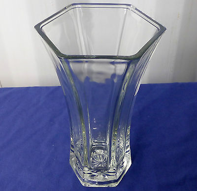 """1 pc. 8.5""""x 4.5"""" NEW LARGE CLEAR GLASS VASE 4040  FREE SHIPPING!"""