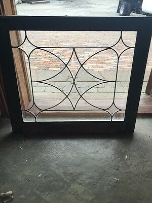Sg 695 Antique Four Point Beveled Glass Window