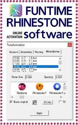 Strass NEW Funtime Software WOW! Cut rhinestone template Silhouette Cameo