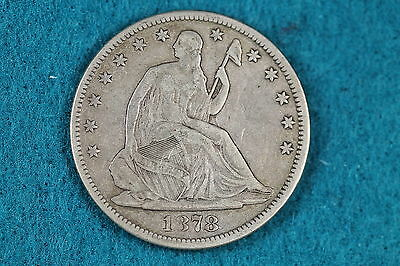 1878 ESTATE FIND Seated Liberty Half Dollar!! #ABA2