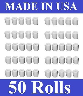 50 ROLL 3 1/8'' x 220' THERMAL CASH REGISTER RECEIPT POS CREDIT CARD PAPER