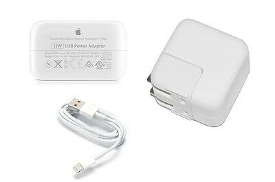 Apple 12W USB Cube Adaptateur Chargeur MD836LL/A A1401 1,8 m Lampe Câble MD819ZM