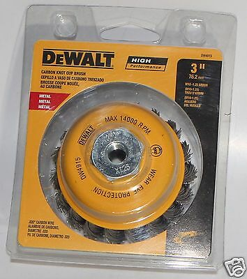 "Dewalt DW4915 3"" Carbon Wire Knot Cup Brush Metal High Performance Metric M10"