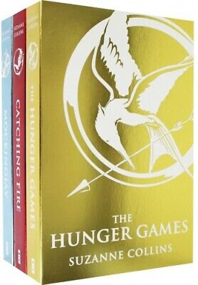 The Hunger games Catching Fire Mockingjay Collection 3 Books Set Foil Cover NEW