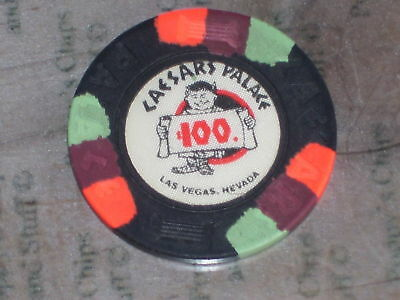 $100 Vintage 7Th Edt Chip From Caesars Palace Casino Lv R8