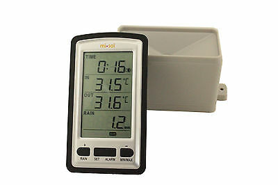 wireless rain meter w/ thermometer, rain gauge Weather Station for in/out temp