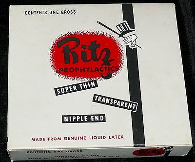 Vintage Condoms Ritz Prophylactics Mint In Store Box 144 Packages