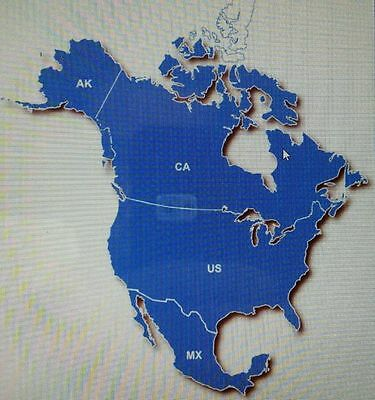 2017.30  North America Latest  Map For Garmin Kenwood Usa&canada City