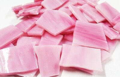 Stained Glass Pieces - 200grams - Pink Candy Floss