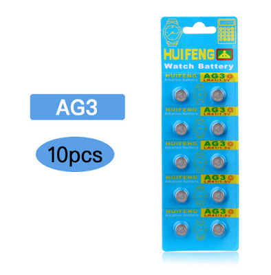 10 pcs AG3 SR41SW LR736 GP192 SR41 1.5V Alkaline Button Cell Battery