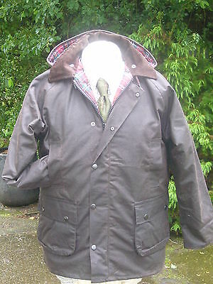 Childrens Brown Horse Wax Riding Coat/jacket  Age 13/14 New Walking