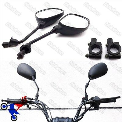 Motorcycle Rearview Mirror Bracket Holder Clamp Pit Dirt Bike ATV Quad