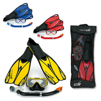 Osprey ADS Dive Set Mask Snorkel Fins Flippers Diving Snorkelling with Carry Bag