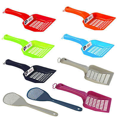 Cat Kitten Plastic Litter Tray Scoop Spoon 6 Colours  Waste Scooper Poop Shovel