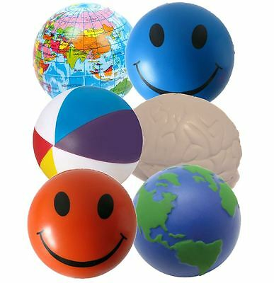 6 x Stress Ball Mixed Squeezer by StressCHECK - ADHD and Autism