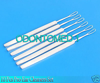 10 Pcs Ear Cleaners Wax Removing Ear Pick Health Care Stainless Steel Tool
