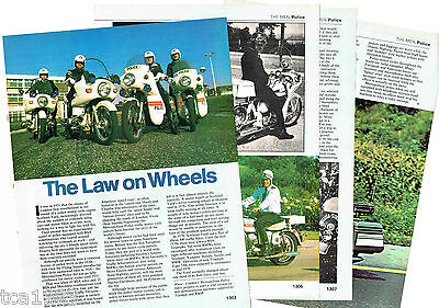 vintage MOTORCYCLE POLICE / Cops Article / Photos / Pictures: Law Enforcment