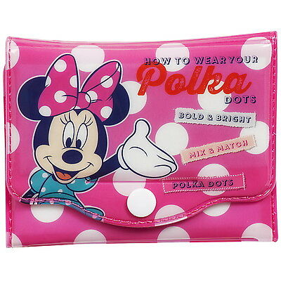 NEW OFFICIAL Minnie Mouse Disney Girls / Kids Coin Pouch / Purse / Wallet