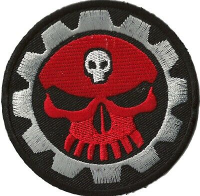 ECUSSON brodé patche Mechanic Skull thermocollant patch transfert Do It Yourself