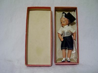 "Vintage celluloid boy doll - 4"" - Japan - all dressed up and nowhere to go"