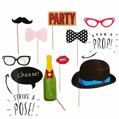 10pcs General Birthday Photo Booth Props Party Celebration Accessories