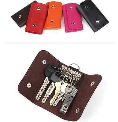 Keys holder Organizer Manager patent leather Buckle key wallet case car keychain