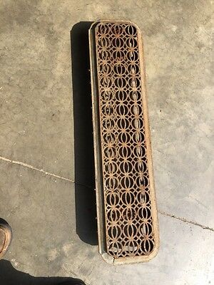 "Rt 13 Antique Cast-Iron Radiator Cover 38"" X 9"""