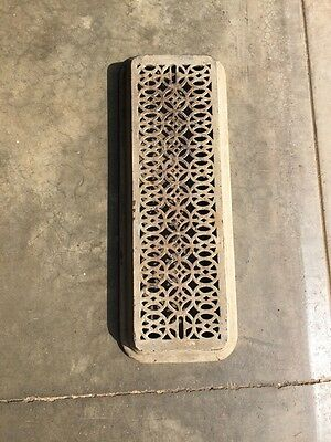"Rt 2 Antique Cast-Iron Radiator Cover 27"" X 10"""