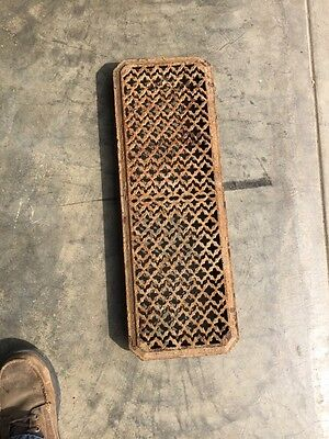 Rt 8 Antique Cast-Iron Radiator Cover 25 And Three-Quarter Inch By 8 1/2 Inch