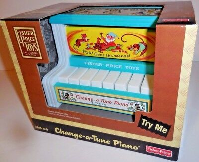 FISHER-PRICE Change-A-Tune PIANO Preschool Musical Toy Music 3 tunes 1706 NEW