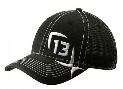 13 Fishing The Professional Fitted Hat Size S/M Small Medium H1-SM Black White
