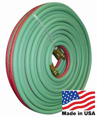 """50' X 1/4"""" Twin Torch Hose MADE IN THE USA Goodyear/Continental Oxygen Acetylene"""