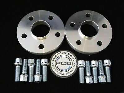 15mm VW AUDI 5x100 Hubcentric Wheel Spacers, 57.1 bore 10 Wheel Bolts UK Made