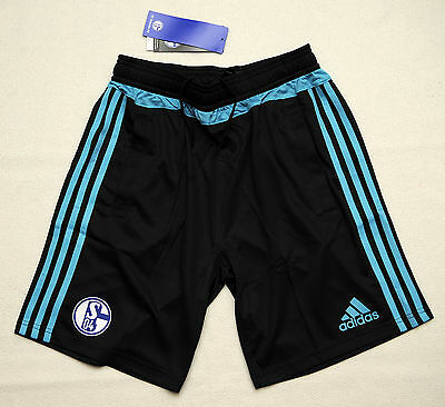 adidas Training Shorts Youth FC Schalke 04 2015/2016 Gr. 164 NEU OVP UVP 32,95
