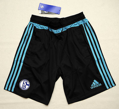 adidas Training Shorts Youth FC Schalke 04 2015/2016 Gr. 176 NEU OVP UVP 32,95