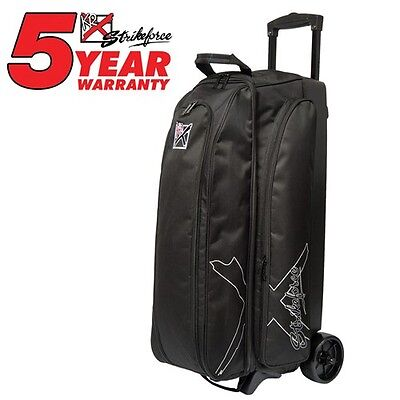 KR Strikeforce Hybrid Black 3 Ball Roller Bowling Bag