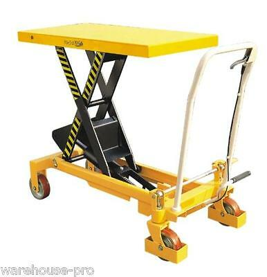 750KG NEW Manual Scissor Lift Table- Table Size 1000x510mm- Table Height 990mm