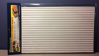 """JTT SCENERY 97409 RIBBED ROOF 1:24 G SCALE (2) 7.5"""" x 12"""" SHEETS  JTT97409"""