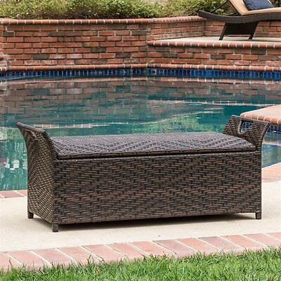 Best Selling Home Decor 295551 Wing Outdoor Storage Bench