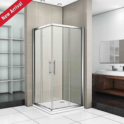 700x700mm Sliding Shower Enclosure Door Corner Entry Square Cubicle Glass Screen