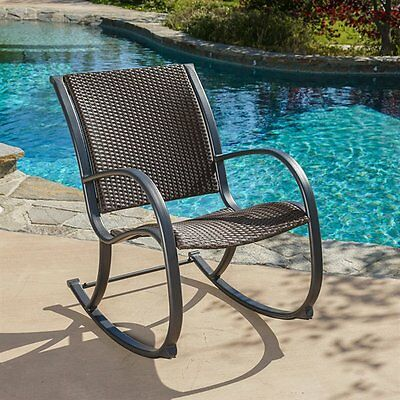 Best Selling Home Decor 295654 Sherry Outdoor Wicker Rocking Chair