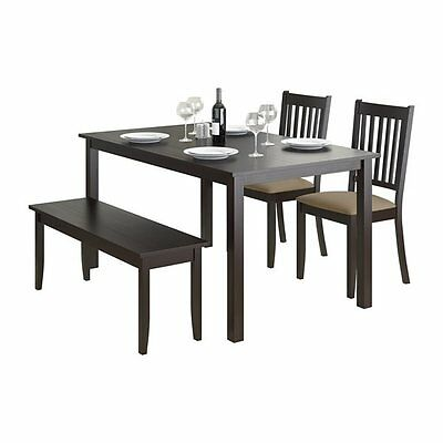 Sonax DRG-795-Z2 CorLiving Atwood 4-piece Dining Set with Wood Bench and Upholst